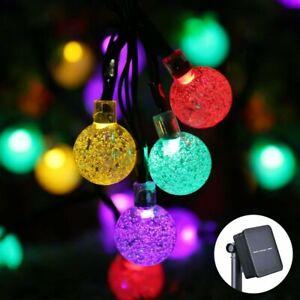 100LED Solar Power Ball Fairy Light String Lamp Garden Party Decor Outdoor 12m