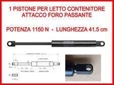 PISTONE A GAS MOLLA DI RICAMBIO PER LETTO CONTENITORE-1150 ATTACCO FORO PASSANTE