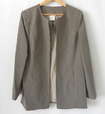 NWT Cintas Blazer Open Duster Quick Dry Comfort Tan Pockets Size 16