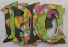 "CANDY CORN ~  Halloween Alphabet Chipboard Letters & Die Cuts 1.5"""