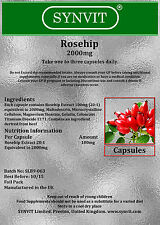 SYNVIT® Rosehip 2000mg  x 180 Capsules