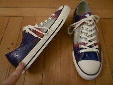 NIB: CONVERSE Chuck Taylor All Star Embossed Leather Ox;  8.5/10.5