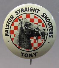 1946 Tony Tom Mix Straight Shooters pinback button Ralston Cereal Radio Premium
