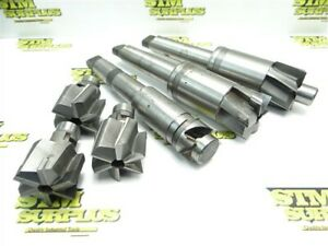 """6 HSS & CARBIDE TIPPED INTERCHANGEABLE COUNTERBORES 1-1/2"""" TO 2-1/8"""" W/ARBORS"""