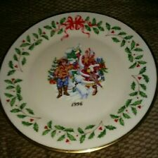 """Lenox """"Letter To Santa"""" 1996 Annual Holiday Collector'S Ltd Ed Plate #6 - Mib"""