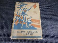 Antique 1912 Book THE BOY SCOUTS IN CAMP Personalized Hardcover Old Vtg