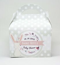 Personalised Bunny Baby Shower Party Favour Gift Box Hen Night 1ST CLASS POST!