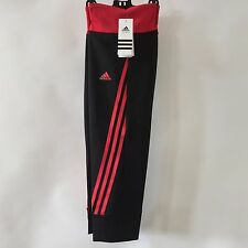 WOMENS ADIDAS CROPPED FITNESS TIGHTS CAPRI SIZE LARGE (16) BLACK NEW
