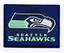 SEATTLE SEAHAWK 3x4 SEW/IRON ON PATCH BADGE EMBROIDERED T-SHIRT NFL FOOTBALL