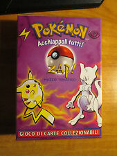 Italian COMPLETE Pokemon ZAP! Card THEME DECK Mazzo Tematico Base Set Mewtwo TCG