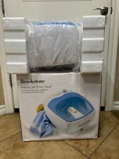 Brookstone Heated Aqua-Jet Foot Spa Oversized Whirlpool Jet Massagers Heat