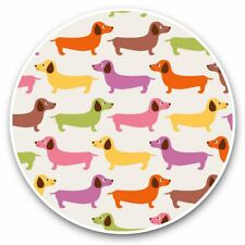 2 x Vinyl Stickers 30cm - Colourful Dachshund Dogs Dog Puppy  #44656