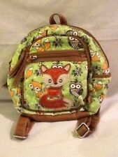 Wolf & Owl Girls Multi-Colored Backpack W/Adjustable Straps