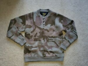 Cabela's 4Most Windshear Men's Large Camo Wool Blend Lined Windproof Sweater