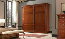 Schrank 2 türig Schiebetüren  Ducale Kirschbaum Furnier Holz Stilvoll  Italy