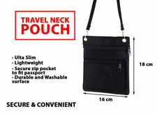 Travel Neck Pouch Secure Passport Card Ticket Money Secret Wallet Holster Bag