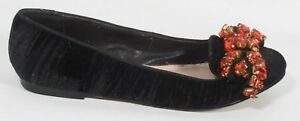 LADIES KURT GEIGER BLACK VELVET PUMPS SHOES ORANGE DIAMANTE SIZE 5 38 rrp £110