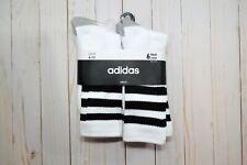 New Adidas 6X Crew socks Sz 6-12 White