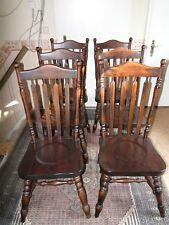 6 Stühle Holz Dunkel für Esszimmer, Bar oder Küche 70er jahre Stil maritim