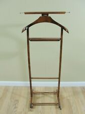 Vintage Reguitti Wood Valet Butler Clothes Stand on Castors Made in Italy wooden