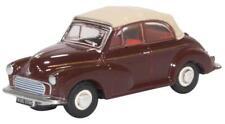 Oxford Diecast Morris Minor Convertible Maroon and Tan 76MMC006