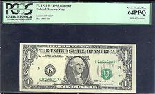 1995$1FRN STAR SHIFT OP-FR#1921-E*-PCGS64-RARE