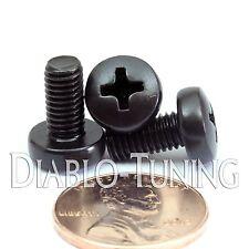 M5 - 0.8 x 10mm - Qty 10 - Phillips Pan Head Machine Screws DIN 7985 A Black Ox