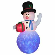 CHRISTMAS SANTA Kaleidoscope  SNOWMAN 8 FT AIRBLOWN INFLATABLE YARD DECORATION