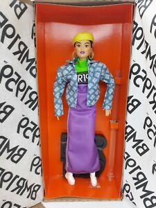 Barbie BMR1959 Doll w/ Stand Purple Dress Denim Jacket Beret 2019