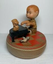 Peanuts Schroeder at Piano - Wood Music Box by Anri Reuge -1968 Does Not Play