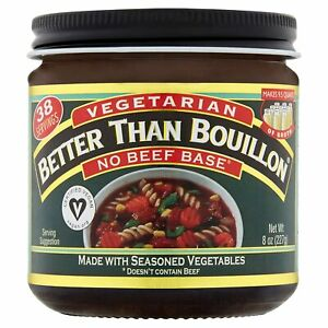 Better Than Bouillon Vegetarian, No Beef Base, 8 Ounce 8 (Pack of 1)