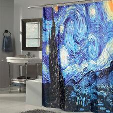 "Van GoghStarry Night Printed Polyester Fabric Shower Curtain 70"" x 70"""