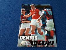 DENNIS BERGKAMP ARSENAL Trading card MERLIN'S PREMIER GOLD 1996/97