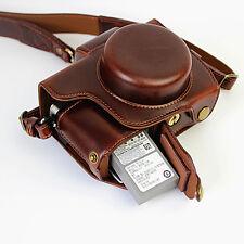 Coffee For Camera Olympus E-M10 Mark II M2 14-42mm EZ Lens OLNY Leather Case Bag