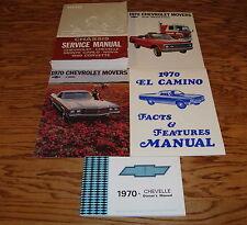 1970 Chevrolet El Camino Service Manual Owners Manual Sales Brochure Lot of 5 70