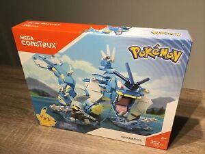 NEW Mega Construx Pokemon Gyarados 352pcs Kids Building Blocks Set. Pristine.