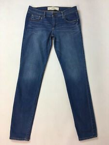 Abercrombie And Fitch Blue Stretch Skinny Jeans W27 L29 Size 4 Zip Fly