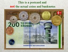 Postcard: Denmark Circulating Coins and Currency (Banknote) 2013
