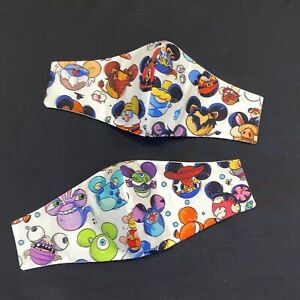 Adult Size Face Mask- Disney Mickey Heads- Lilo Stitch Villains Sulley Monsters
