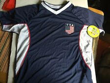 Usa Olympic Style V Neck Short Sleeve Size Medium Shirt