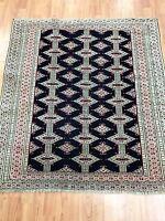 """3'6"""" x 3'8"""" Antique Turkeman Oriental Rug - 1930s - Hand Made - 100% Wool"""