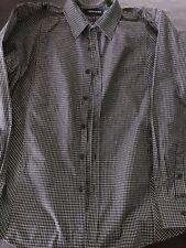 tarocash Men's Shirt Size L black white long sleeve