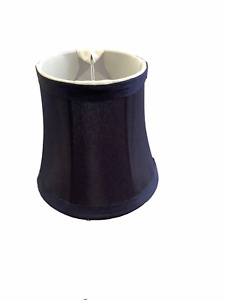 """Small Clip On Lamp Shade Navy Blue 4.5""""x5""""x3"""""""