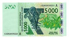 West African States ... P-117Ak ... 5000 Francs ... (20)12 ... *UNC*