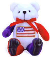 "UNITED STATES HONOR BEAR WITH FLAG FRONT & BACK, 8"" TALL"