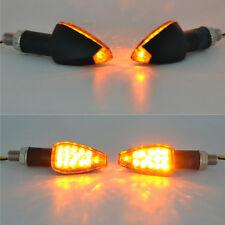 14 DEL 4PCS Mini MOTORCYCLE moto TURN SIGNAL Lights Indicators Amber Lampes