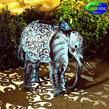 Metal Silhouette Elephant  Solar Light - Smart Garden Products