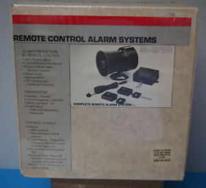 VINTAGE S-910 CAR ALARM SYSTEM NEW IN BOX SIREN CONTROLLERS KEYPADS