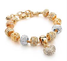 Heart Charm Bracelet for Women Gold SilverGifts Mums Parents Nan Nanny Grandma