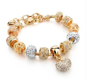 Crystal Charm Bracelets for Her Women Ladies Heart Gift for Her UK Seller